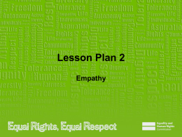 Lesson Plan 2 - Equality and Human Rights Commission