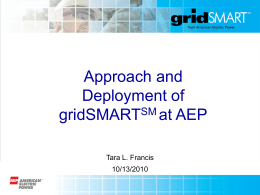 Smart Grid Panel: AEP South Bend Project Overview
