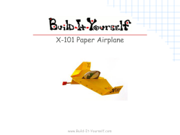 X-101 Paper Airplane Plans - Build-It