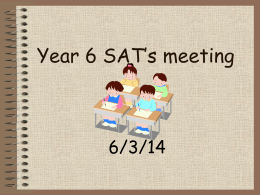Year 6 SAT`s meeting - Deanery C of E Primary School