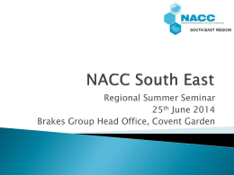 NACC South East June.. - The National Association of Care Catering