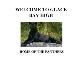 WELCOME TO GLACE BAY HIGH