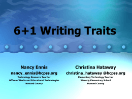 6+1 Writing Traits PowerPoint