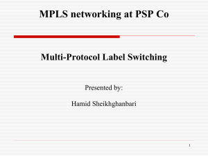 MPLS networking at PSP Co Multi