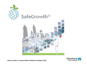 The SafeGrowth initiative - Social Justice in Communities conference