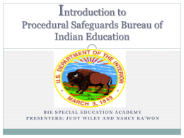 Introduction to Procedural Safeguards