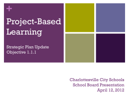 11.1 and 11.2 Strategic Plan School Board Update