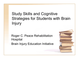 Study Skills and Cognitive Strategies
