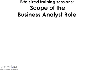 Scope of the Business Analyst Role - smart-BA!