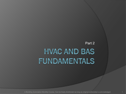 HVAC and BAS Fundamentals - Building Automation Monthly