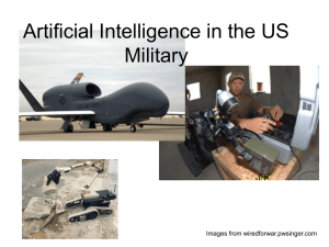 AI in military presentation