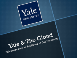 ITS Innovation Workgroup - Yale ITS