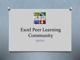 UBI700ExcelPeerLearningCommunity12112012Session