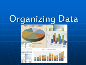 Organizing Data - Newmarket High School