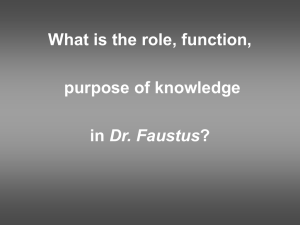 PowerPoint on Faustus and humanism