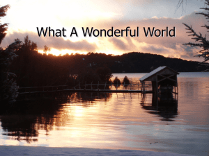 What A Wonderful World powerpoint