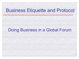Business Etiquette and Protocol file