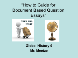 """How to Do Document Based Question Essays"""