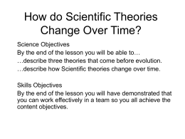 How do Scientific Theories Change Over Time?