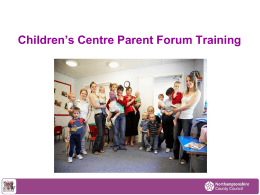 Why do Children`s Centres need Advisory Boards?