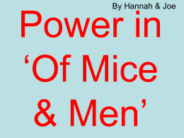 Theme – Power in OMAM