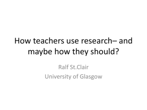 How teachers use research– and maybe how they