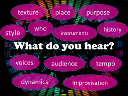What Do You Hear? PowerPoint
