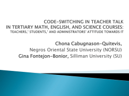 Code-switching - CNU ICT Integration in Education (Balo`s class)
