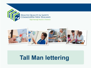 What is Tall Man lettering? - Health Quality & Safety Commission