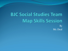 BJC Social Studies Team Map Skills Session