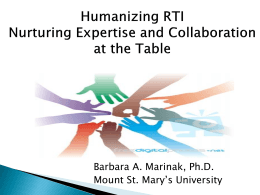 Nurturing Expertise and Collaboration at the Table