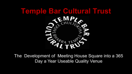 Temple Bar Cultural Trust - Dublin Convention Bureau