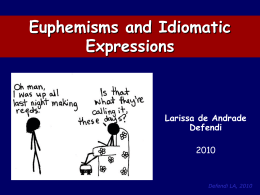 Euphemisms and Idiomatic Expressions