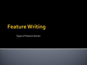 Feature Story Types