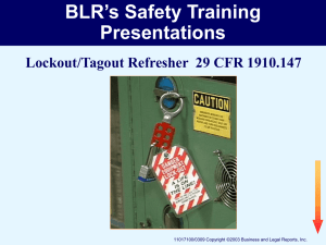 BLR`s Safety Training Presentations