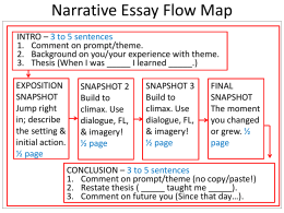 Narrative Essay Flow Map