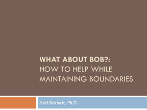 What About Bob? - Agape Counseling Associates