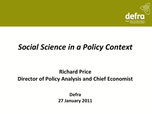 Social science in a policy context