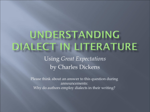 UNDERSTANDING Dialect in literature