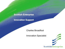 Scottish Enterprise Innovation Support