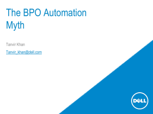 Automation Myth - World BPO/ITO Forum