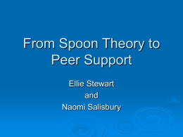 From Spoon Theory to Peer Support - Scottish Personality Disorder