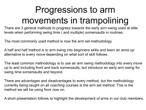 Coaching arm movements