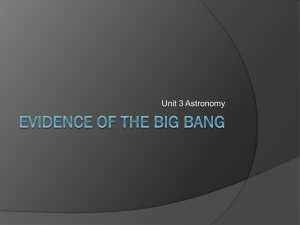 Evidence of the Big Bang and Structure of the Universe