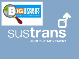 Big Street Survey KS2