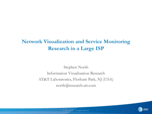 Experience in Network Monitoring and Visualization at a Large