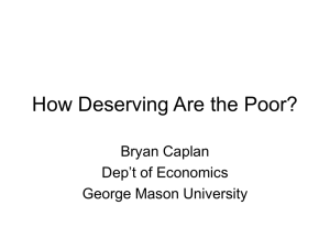 How Deserving Are the Poor?