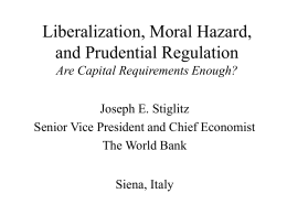 Are Capital Requirements Enough?