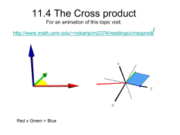 11.4 Cross Products