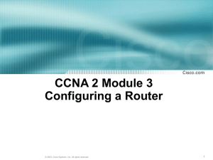 End User Instructions for Cisco 891 Router Set Up at Home or